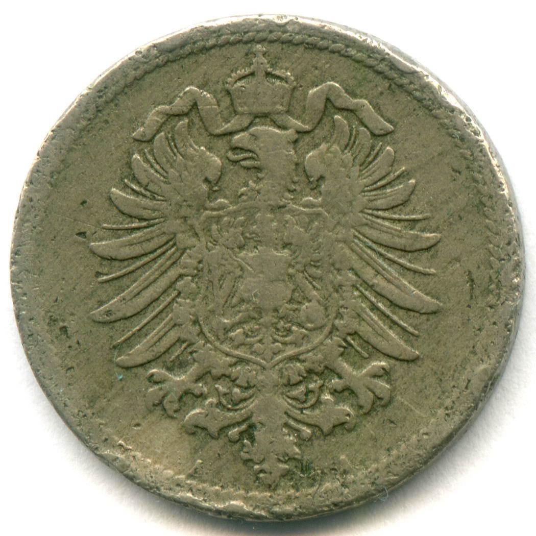 10 пфеннигов 1876 A Германия М-н F-VF