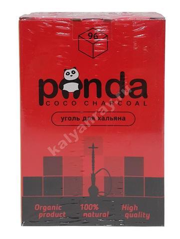 Кокосовый уголь Панда красная 96 кубиков