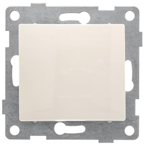 Выключатель одноклавишный, 10 А 220/250 В~. Цвет Бежевый. Bravo GUSI Electric. С10В1-003