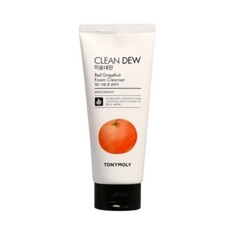 Tony Moly Clean Dew Red Grape Fruit Foam Cleanser пенка для умывания с экстрактом грейпфрута