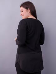 Аніка. Стильна кофтинка для жінок size plus. Чорний.