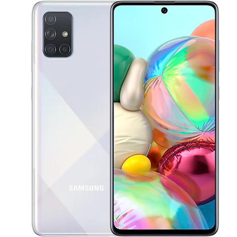 Смартфон Samsung Galaxy A71 6/128GB (серебряный)