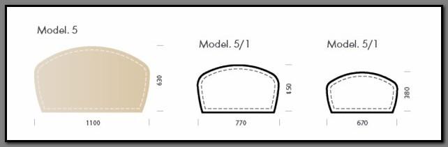 Схема с размерами кожаного бювара модели Сан-Ремо-5.