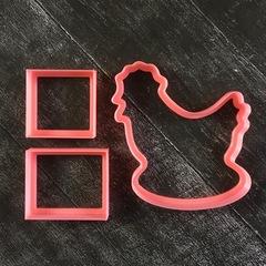 Курочка №8 3D шкатулка