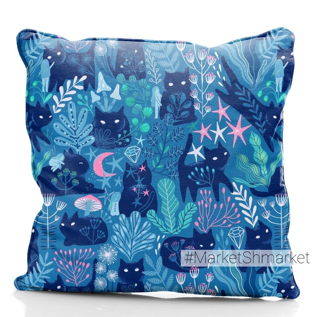 Мистические ночные магические коты и феи. Magic cats.