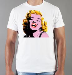 Футболка с принтом Мэрилин Монро  (Marilyn Monroe) белая 0018