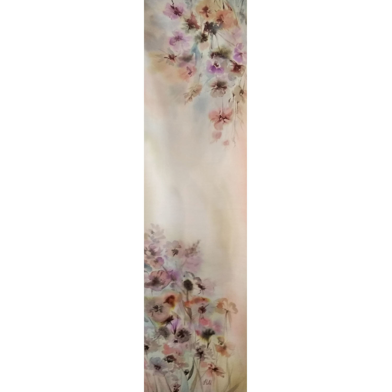 Шерстяной шарф батик Весенняя нежность С-57-ш