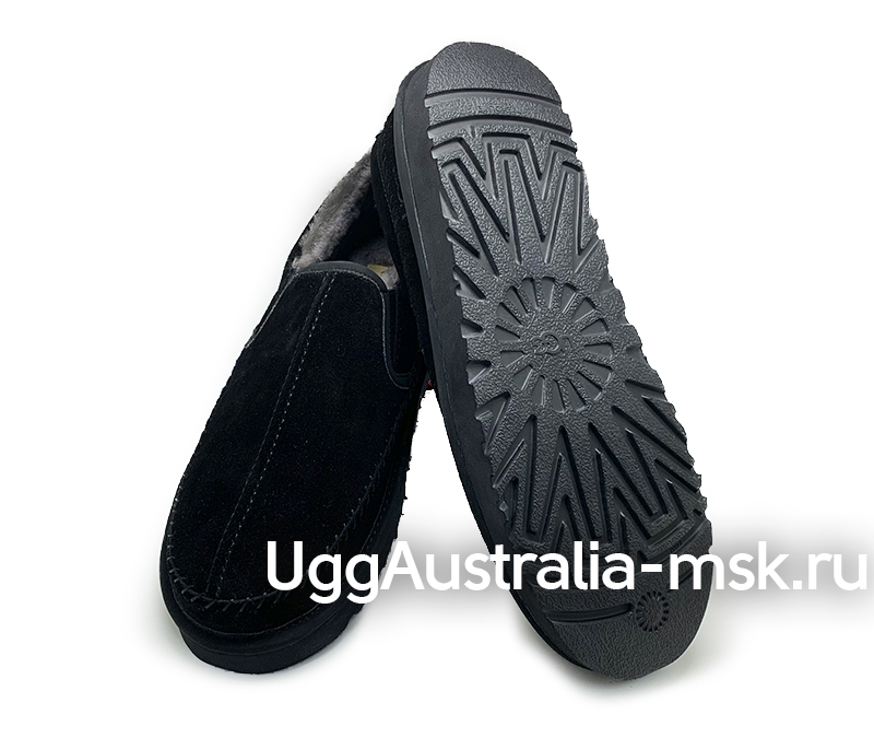 UGG MENS STITCH SLIP ON MEN BLACK