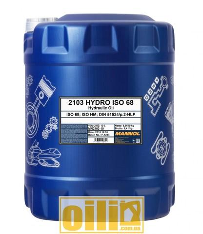 Mannol 2103 HYDRO ISO 68 10л