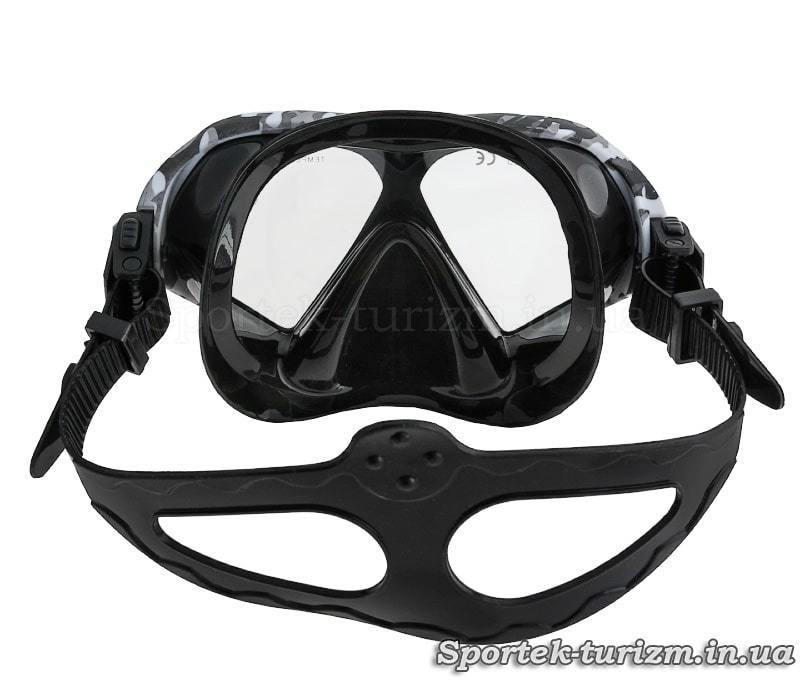 Вид сзади на маску для плавания Dolvor M9510S Camouflage (камуфляж)