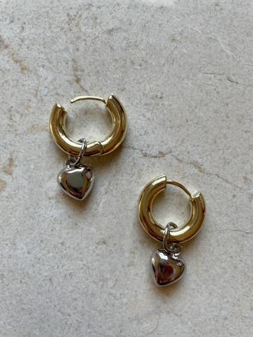 Серьги Гриата, позолота и серебряный цвет