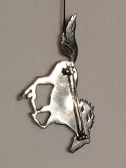 Лошадь (брошь из серебра )