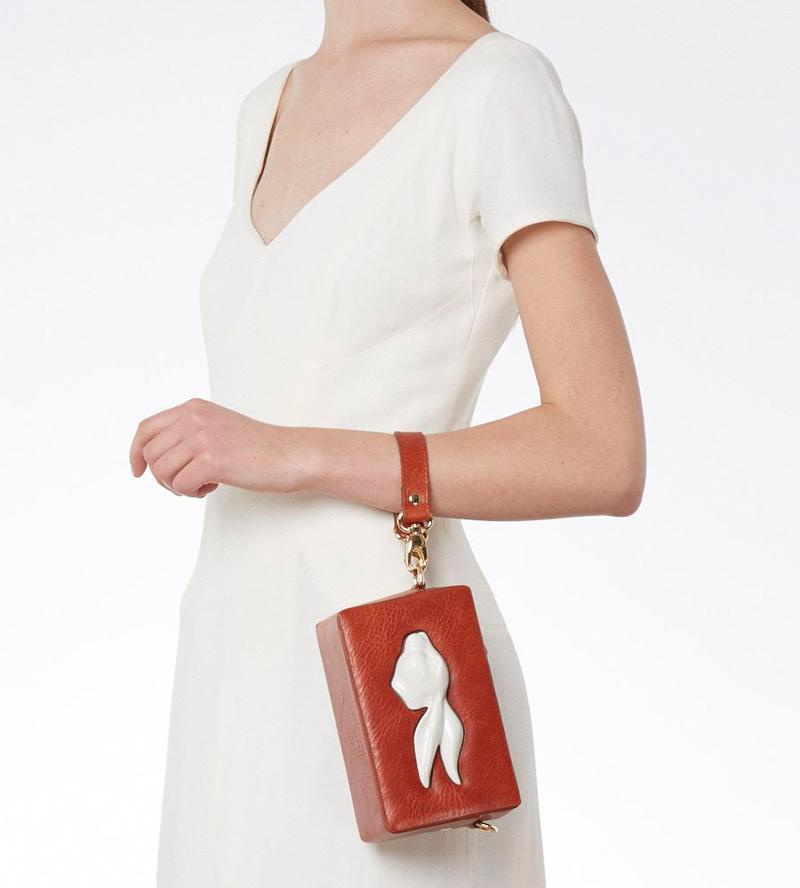 Прямоугольная сумка из кожи Rabbit Raw от ANDRES GALLARDO