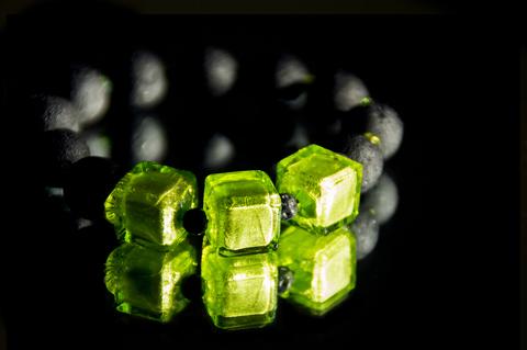 Браслет Murano Flex Cubo черно-салатовый