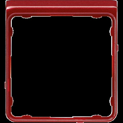 Внешняя цветная рамка. Цвет Красный металлик. JUNG CD PLUS. CDP82RTM