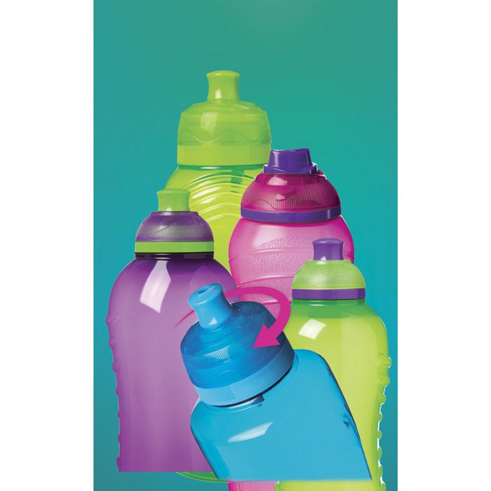 """Бутылка для воды Sistema """"Hydrate"""" 600 мл, цвет Черный"""