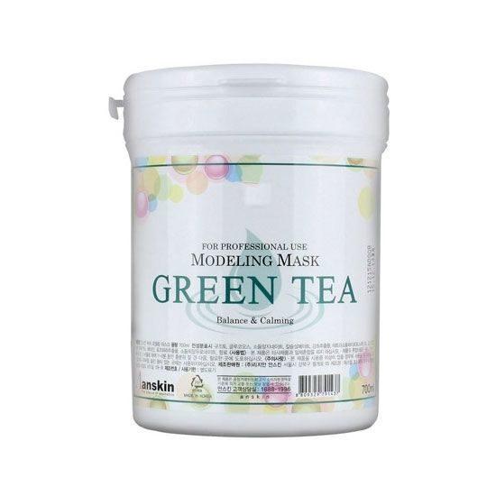 Маска альгинатная с экстрактом зеленого чая успокаивающая антиаксидантная Anskin Modeling Mask Anskin