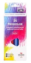 Карандаши цветные TRIOCOLOR 3134, 24 цвета с точилкой