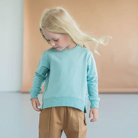 Cropped sweatshirt - Sea Blue