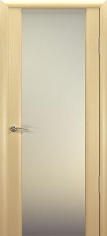 Дверь Шторм-3 стекло белое (беленый дуб, остекленная шпонированная), фабрика Океан