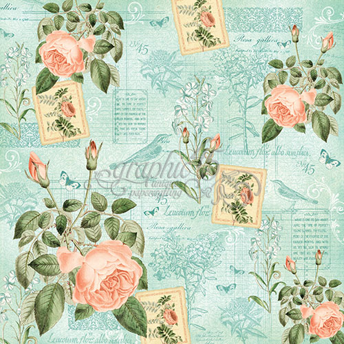 Бумага для скрапбукинга June Flourish Graphic45