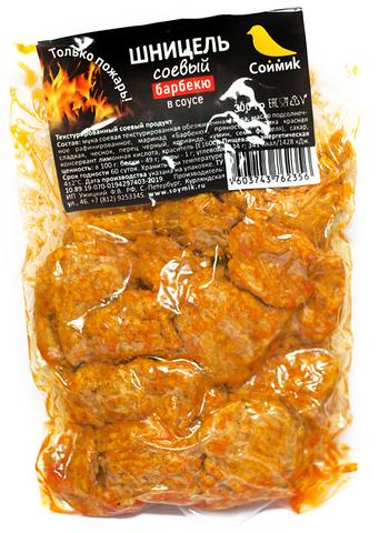 Шницель соевый в соусе барбекю, 300 гр. (Соймик)
