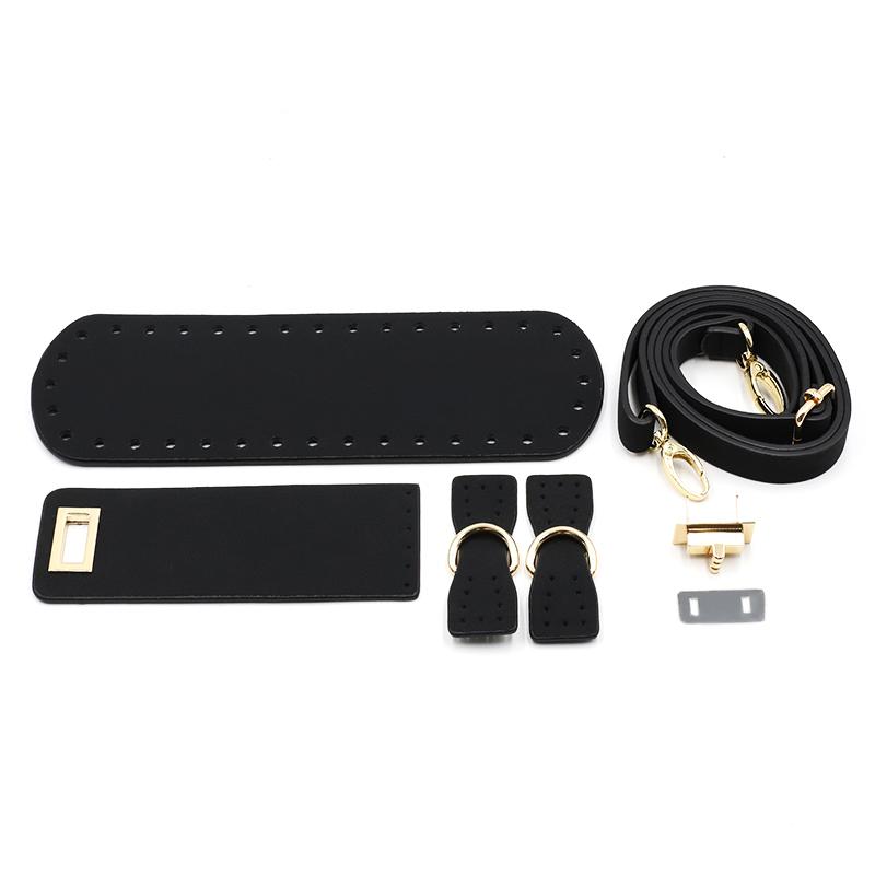 """Комплект для сумки из шнура с  видео уроком Комплект для сумки с клапаном из экокожи """"Черный"""" H50e94d3284824ae48ad8ac87d3db6848V.jpg"""