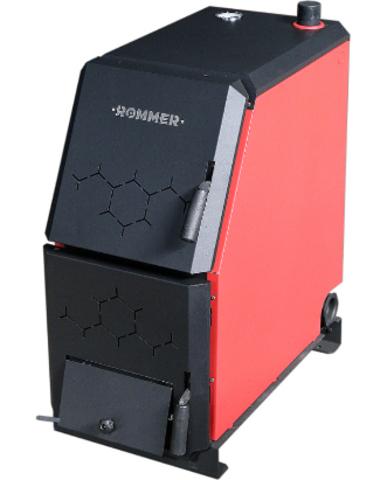 ROMMER Котел твердотопливный 16 кВт с возможностью установки ТЭНа, терморегулятора/турбокомплекта, пеллетной горелки