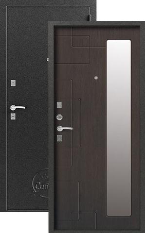 Дверь входная Сибирь S-6, 2 замка, 1 мм  металл, (серебро+венге)