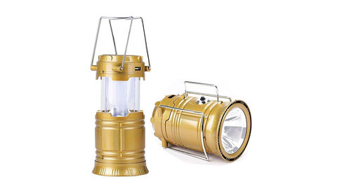 Лампа для кемпинга 6 LED Rechargeable Camping Lantern Solar Lamp Torch Light