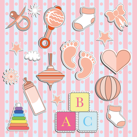 Печать на вафельной бумаге, Набор с Новорожденным 3