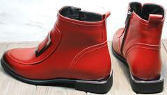 Ботильоны на маленьком каблуке весна осень Evromoda 1481547 S.A.-Red