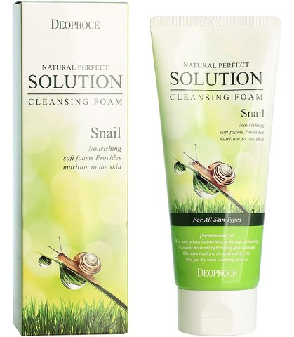 Пенка для умывания улиточная Deoproce Natural Perfect Solution CLeansing Foam Snail, 170 гр