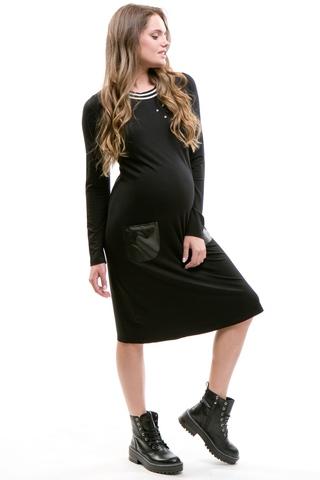 Платье для беременных 09166 черный