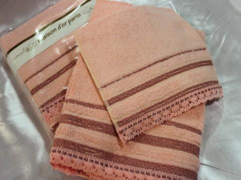 Набор полотенец  CROCHET - КРОКЕТ 3пр 30х50 50х90 и 70х140 Maison Dor (Турция)