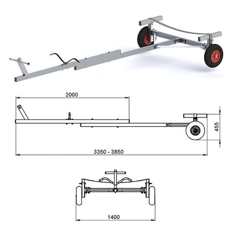 Трейлер для транспортировки НЛ и РИБ (АМГ5)