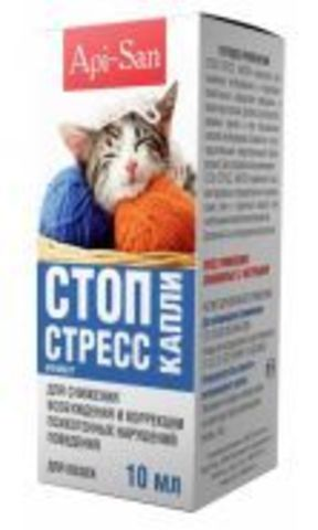 Api-San Stop-Stress drops for cats 10ml