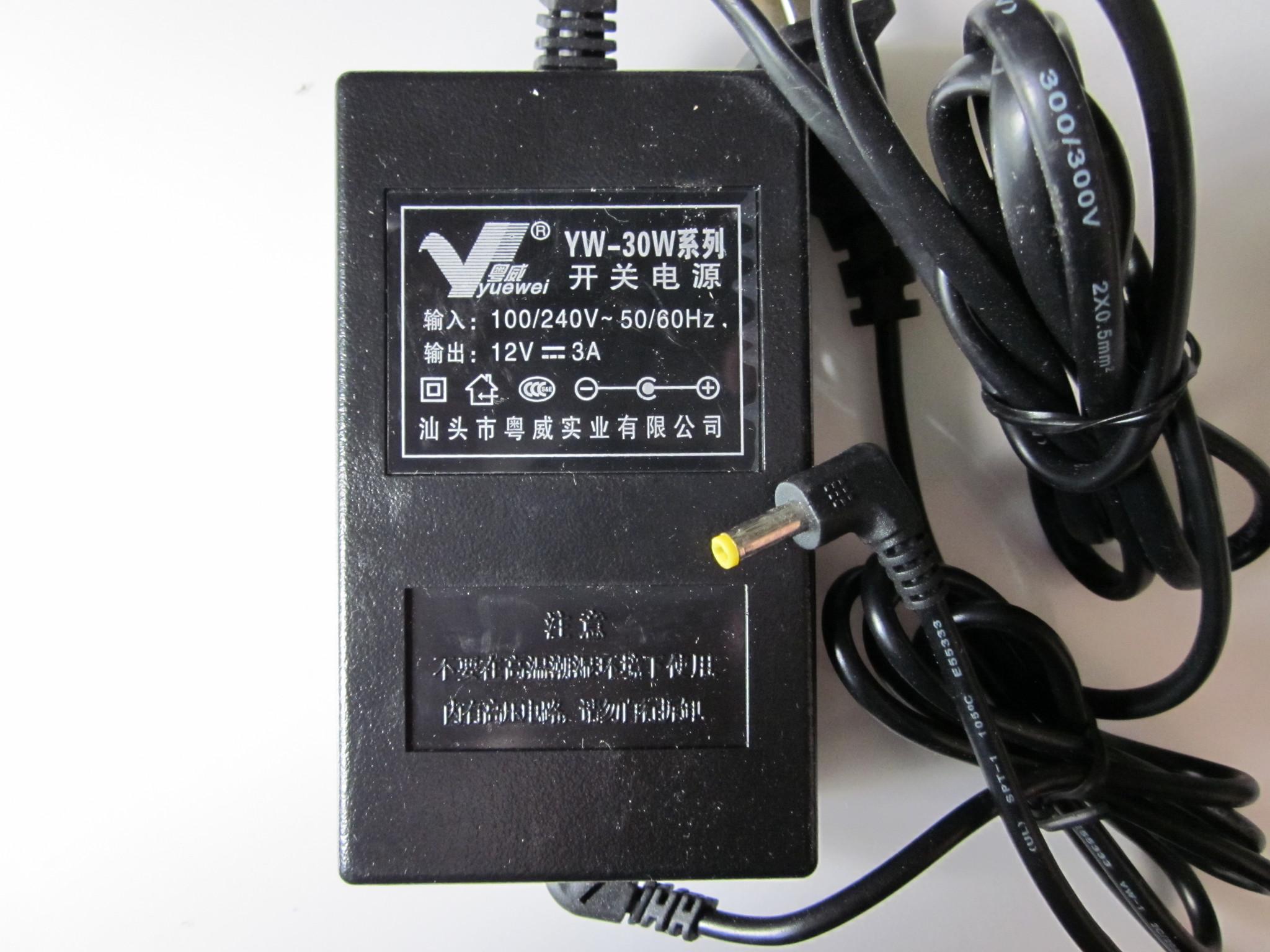 YW-30W +12V, 3A