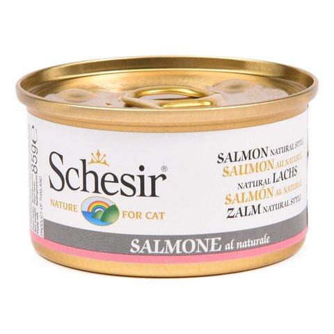Schesir консервы для кошек с натуральным лососем 85г