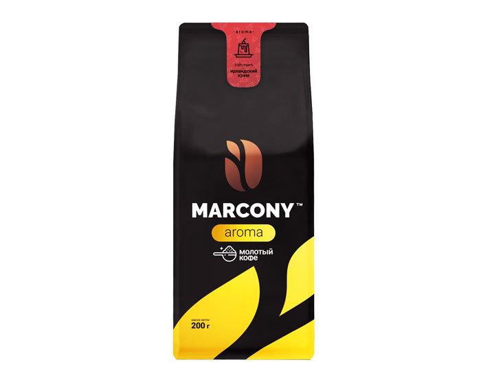купить Кофе молотый Marcony Aroma со вкусом Ирландского крема, 200 г