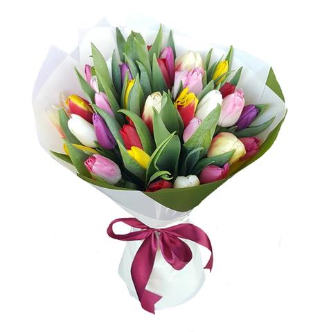 Букет микс из 35 тюльпанов 3