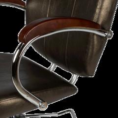 Парикмахерское кресло Грация гидравлика хром, пятилучье хром на подпятниках