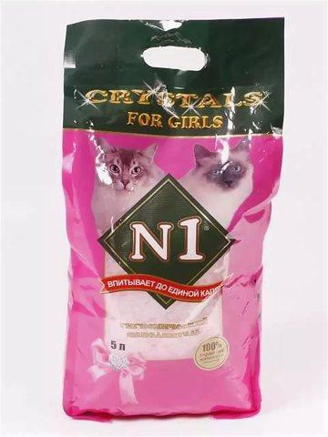 Наполнитель силикагелевый Litter N1 Crystals For Girls-silica gel