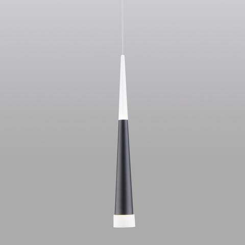 Подвесной светодиодный светильник DLR038 7+1W 4200K черный матовый
