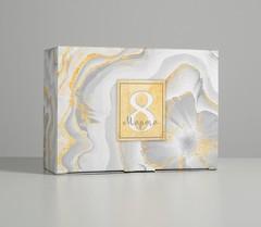 Коробка сборная «С 8 марта», 26 × 19 × 10 см, 1 шт.