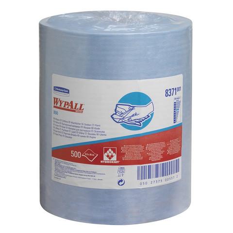 Материал протирочный нетканый рулWYPALLxX60 LR B 500s 38х31,5см голуб.8371