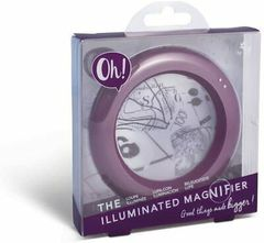 Böyüdücü şüşə Oh! The İlluminated Magnifier - Purple Hue