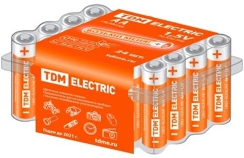 Элемент питания LR6 AA Alkaline 1,5V BOX-24 TDM