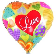 Шар Сердце Love Разноцветные сердца