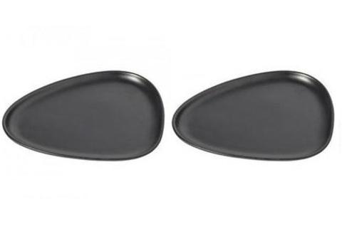 Набор из 2-х чёрных тарелок